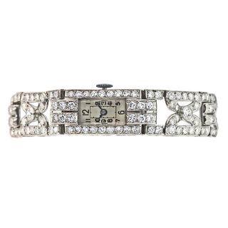 Lady's Art Deco Diamond Wristwatch - 1
