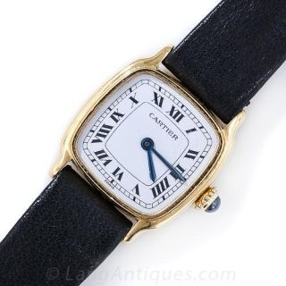 Lady's Vintage French Cartier Mechanical Strap Watch