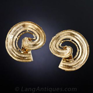 Lalaounis Large Spiral Earrings - 1
