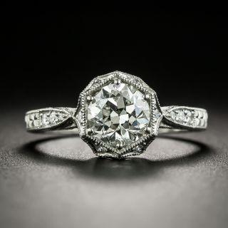 Lang Collection 1.00 Carat Art Deco Style Hexagonal Diamond Engagement Ring - GIA J SI2 - 1