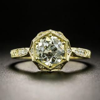 Lang Collection 1.00 Carat Diamond Art Deco Style Hexagonal Engagement Ring GIA - 2