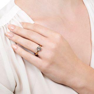 Lang Collection 1.06 Carat European-cut Diamond Solitaire Engagement Ring - GIA J SI2