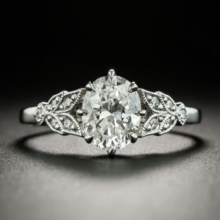 Lang Collection 1.14 Carat Oval-Cut Diamond Engagement Ring - GIA I VS1 - 2