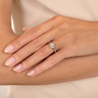 Lang Collection 1.52 Carat Old Mine Cut Diamond Engagement Ring - GIA J VS1