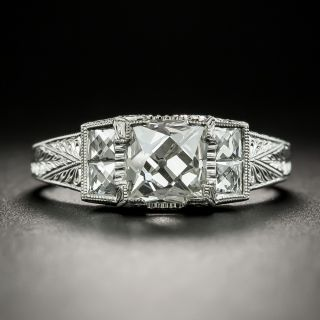 Lang Collection 1.60 Carat French Cut Diamond Ring - GIA H VS2 - 2