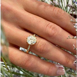 Lang Collection 1.63 Carat Diamond Engagement Ring - GIA L VS2