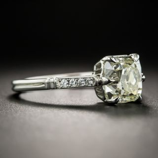 Lang Collection 1.77 Carat Antique Cushion-Cut Diamond Ring - GIA O-P SI1