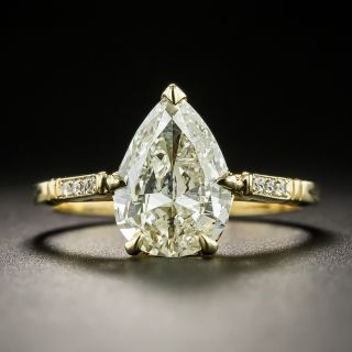 Lang Collection 1.80 Pear Shape  Diamond Engagement Ring - GIA - 1