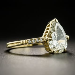 Lang Collection 1.80 Pear Shape  Diamond Engagement Ring - GIA