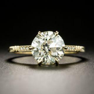 Lang Collection 2.29 Carat European-Cut Diamond Engagement Ring - GIA N VS1 - 2