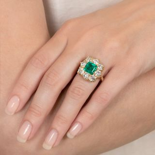 Lang Collection 2.64 Carat Emerald and Diamond Ring - GIA F1