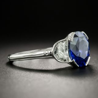 Lang Collection 2.83 Carat Sapphire Diamond Platinum Ring