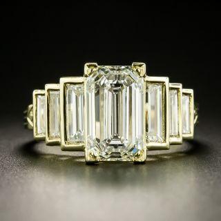 Lang Collection 2.85 Carat Emerald-Cut Diamond Diamond Ring - GIA L VS2 - 3