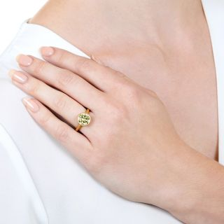Lang Collection 3.00 Carat Natural Fancy Light Yellow Diamond Ring - GIA VVS2