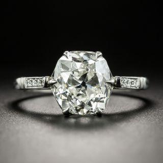 Lang Collection 3.03 Carat Antique Cushion-Cut Diamond Engagement Ring - GIA I VS1 - 2