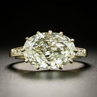 Lang Collection 3.22 Carat East West Oval-Cut Diamond Ring - GIA L VS1 - 1