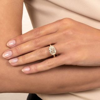 Lang Collection 3.22 Carat East West Oval-Cut Diamond Ring - GIA L VS1