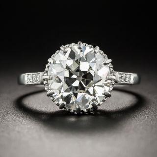 3.36 Carat European-Cut Diamond Ring - GIA J VS2  - 1