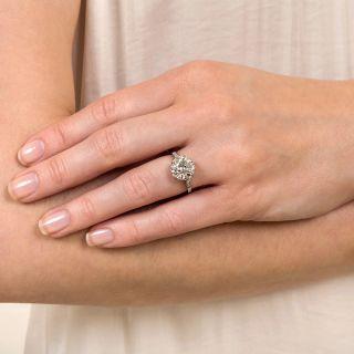 Lang Collection 3.36 Carat European-Cut Diamond Solitaire Ring - GIA J VS2