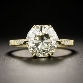 Lang Collection 3.39 Carat Old Mine-Cut Diamond Ring - 3