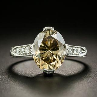 Lang Collection 3.50 Carat Fancy Brown Diamond Engagement Ring - GIA - 2