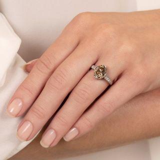 Lang Collection 3.50 Carat Fancy Brown Diamond Engagement Ring - GIA