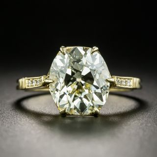 Lang Collection 3.78 Carat Old Mine-Cut Diamond Solitaire Ring--GIA O-P VVS2 - 1