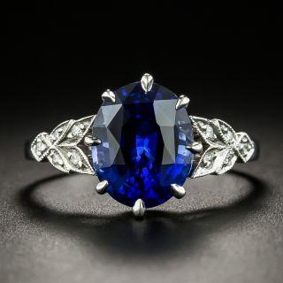 Lang Collection 4.00 Carat Ceylon Sapphire and Diamond Ring - 1