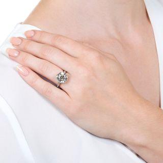 Lang Collection 5.03 Carat European-Cut Diamond Ring  - GIA F VS1