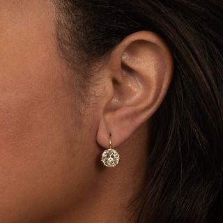 Lang Collection 5.15 Carats Diamond Drop Earrings - GIA