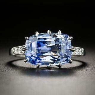 Lang Collection 5.66 Carat No-Heat Ceylon Sapphire and Diamond Ring - 2