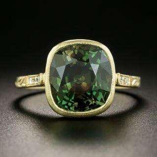 Lang Collection 6.30 Carat Vintage Alexandrite and Diamond Ring - GIA - 3