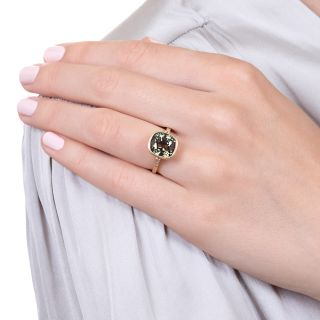 Lang Collection 6.30 Carat Vintage Alexandrite and Diamond Ring - GIA