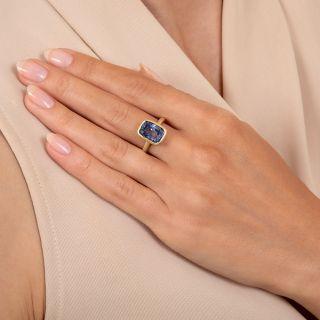 Lang Collection 6.73 Carat No-Heat Ceylon Sapphire Ring