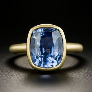 Lang Collection 7.45 Carat No-Heat Ceylon Sapphire Solitaire Ring - 2