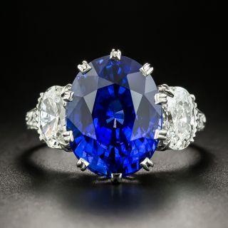 Lang Collection 8.62 Carat Fine Ceylon Sapphire and Diamond Ring  - 2