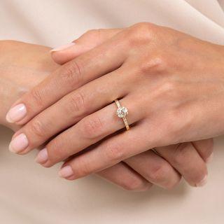 Lang Collection .92 Carat Diamond Engagement Ring - GIA K SI2