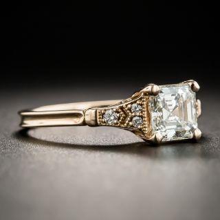 Lang Collection .92 Carat Square Emerald-Cut Diamond Ring - GIA J VS2