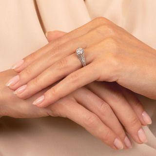 Lang Collection .94 Carat Diamond Engagement Ring - GIA F VS2