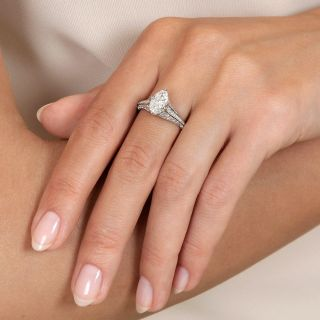 Lang Collection .95 Carat Marquise Diamond Ring - GIA F SI1