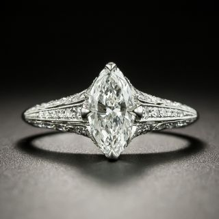 Lang Collection .95 Carat Marquise Diamond Ring - GIA F SI1 - 2