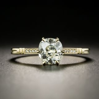 Lang Collection .98 Carat Old Mine-Cut Diamond Engagement Ring - GIA - 1
