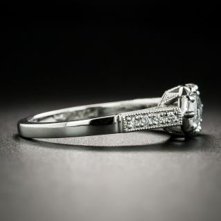 Lang Collection .99 Carat Marquise-Cut Diamond Engagement Ring - GIA D SI1