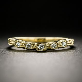 Lang Collection Art Deco Style Contoured Band - 1