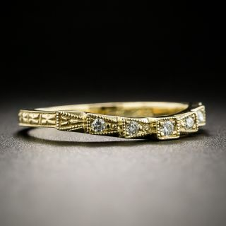 Lang Collection Art Deco Style Contoured Band