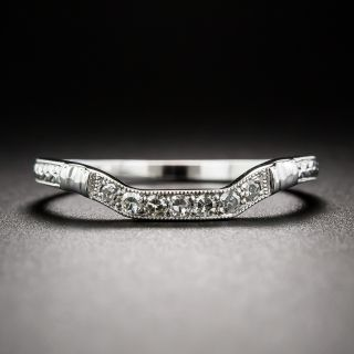 Lang Collection Art Deco Style Square Contour Wedding Band - 1