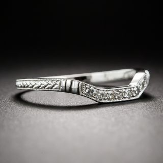 Lang Collection Art Deco Style Square Contour Wedding Band