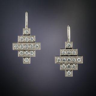 Lang Collection Diamond Geometric Earrings - 2
