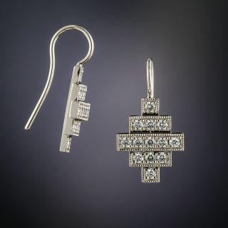 Lang Collection Diamond Geometric Earrings