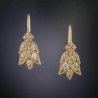 Lang Collection Laurel Diamond Earrings - 2